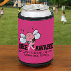 Bee Aware Breast Cancer Can Wrap Koozie