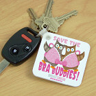 Save the Bra Buddies Breast Cancer Keychain 352340