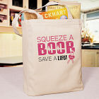 Sqeeze a Boob - Breast Cancer Tote Bag 824502