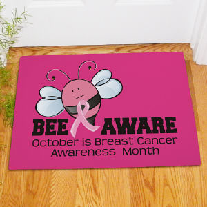 Bee Aware Breast Cancer Doormat