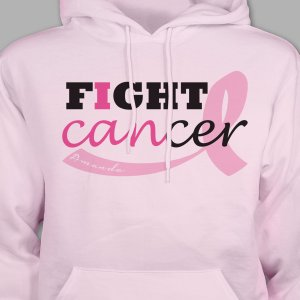 Fight Cancer Personalized Hooded Sweatshirt