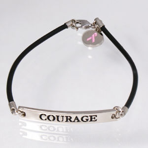 Courage Pink Ribbon Bracelet