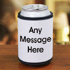 Block Message Can Wrap Koozie