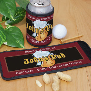 Personalized Cold Beer Pub Can Wrap Koozie