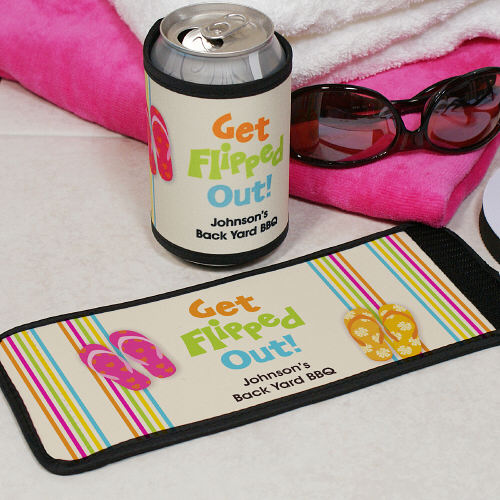 Personalized Get Flipped Out Can Wrap Koozie 343319