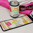 Personalized Get Flipped Out Can Wrap Koozie