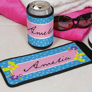 Personalized Flip Flop Can Koozie