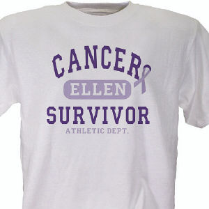 Cancer Suvivor Athletic Dept. - Cancer Awareness Personalized T-shirt