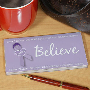 Believe - Cancer Awareness Personalized Checkbook Cover