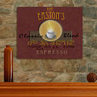 Cafe Espresso Personalized Canvas Wall Art