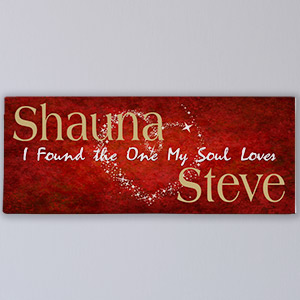 The One My Soul Loves Personalized Wall Canvas 9131849