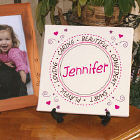 Personalized Little Girl Canvas Wall Art