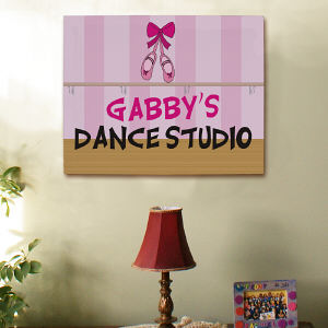 Personalized Dance Studio Wall Canvas