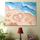 Shores of Love Personalized Canvas Wall Art