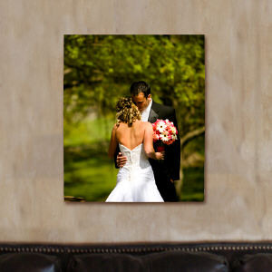 Picture Perfect Wedding Photo Canvas