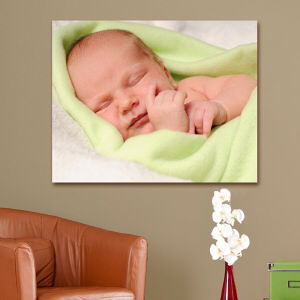 Picture Perfect New Baby Photo 18 x 24 Canvas