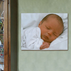 Picture Perfect New Baby Photo Canvas