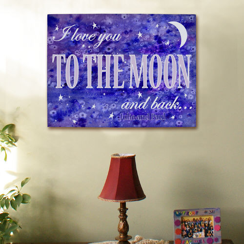 Personalized To The Moon and Back Canvas Wall Art 913875X