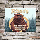 Personalized Big Bear Den Wall Canvas 914038X