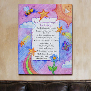 Custom Kids' Ten Commandments Canvas