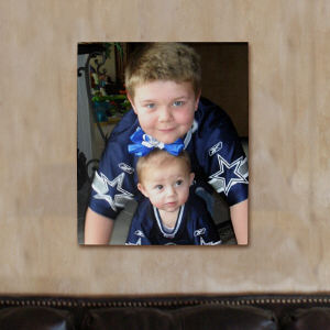 Picture Perfect Siblings Photo Canvas