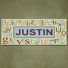 Personalized Alphabet Name Wall Canvas 9152893