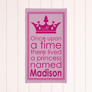 Personalized Princess Pink Wall Canvas