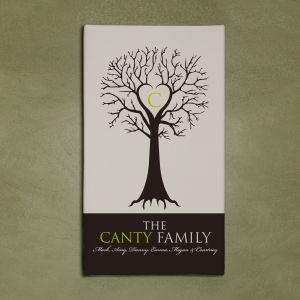 Monogram Family Tree Wall Canvas