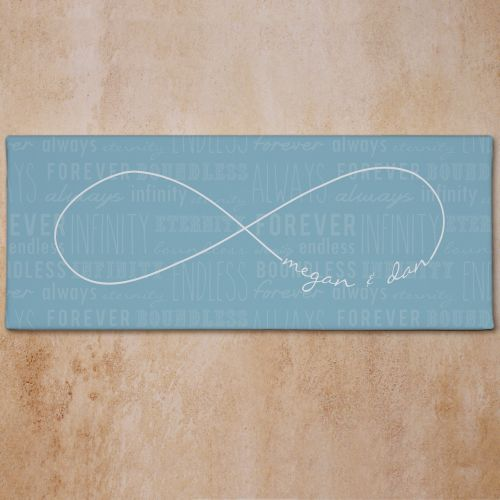 Personalized Infinity Symbol Wall Canvas | Personalized Valentines Day Gifts For Her
