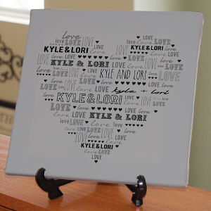 Personalized Heart Canvas | Personalized Couple Gifts