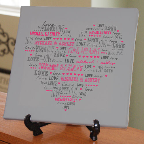 Personalized Heart Canvas 9173374