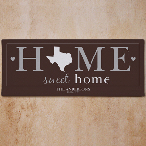 Personalized Home Sweet Home Wall Canvas