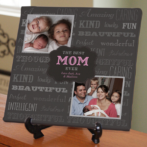 Personalized Best Mom Ever Photo Canvas