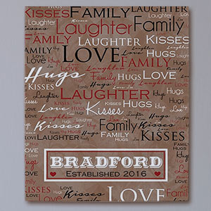 Family Name Love Word-Art Canvas