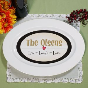 Personalized Live, Laugh, Love Serving Platter U205317