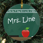 Chalkboard Personalized Ceramic Ornament