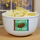 Football Party Zone Personalized Ceramic Bowl U257813