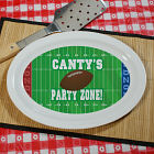 Football Party Zone Personalized Serving Platter U257817