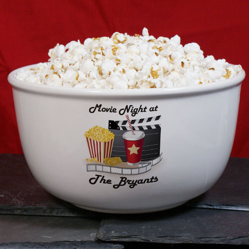 Personalized Movie Night Ceramic Bowl U367613