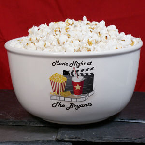 Personalized Popcorn Bowl | Personalized Movie Theatre Gifts