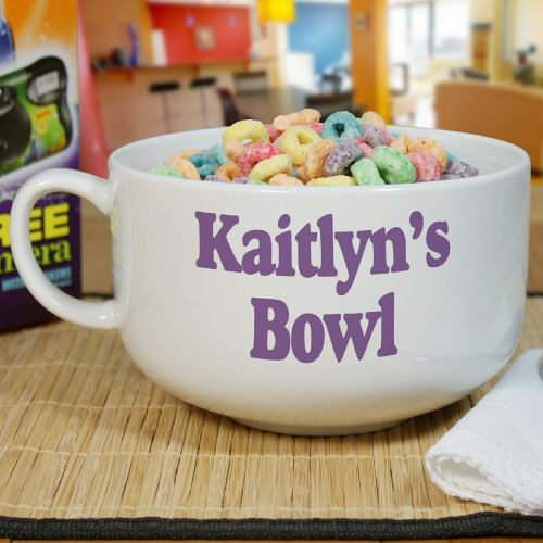 Personalized Ceramic Any Message Cereal Bowl U367723