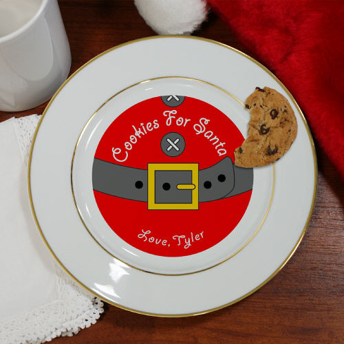 Personalized Cookies for Santa Ceramic Plate U368512