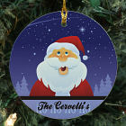 Personalized Ceramic Santa Ornament