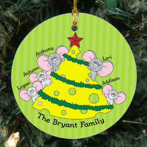 Personalized Mice Family Ornament