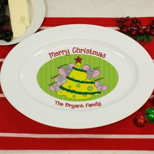 Personalized Mice Family Serving Platter U370517