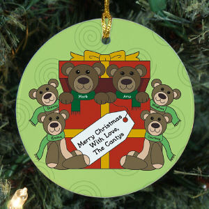 Teddy Bear Family Personalized Ornament