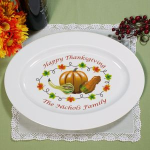 Thanksgiving Personalized Platter