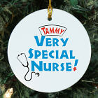 Very Special Nurse Personalized Ceramic Ornament