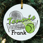 Personalized Ceramic Tennis Ornament