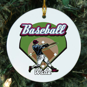 Personalized Ceramic Baseball Ornament U377010